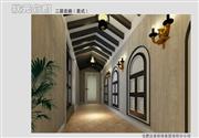 状元优发娱乐手机pt客户端样板间——豪华美式装修走廊效果图
