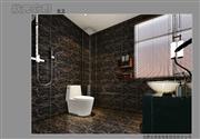 状元优发娱乐手机pt客户端样板间——豪华中式装修洗手间效果图